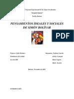 Ensayo Pensamiento Social de Simon Bolivar