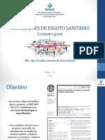IPHS - Aula 3 - Esgoto Sanitário - Geral