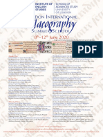 London Palaeography Summer School 2020 Poster