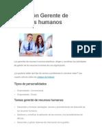 Profesión Gerente de Recursos Humanos