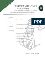 Acto Jurídico, Representación