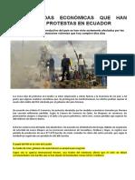 Las Pérdidas Económicas Que Han Dejado Las Protestas en Ecuador
