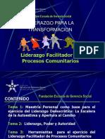 Liderazgo Facilitador de Procesos Comunitarios