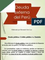 Conoce la Deuda Externa que tiene el Perú