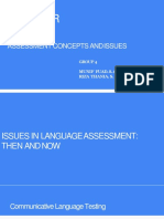 Assessment concepts and issues