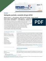 Nefropatía Asociada a Mutación Del Gen MYH9