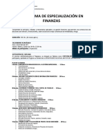 Plan de Estudios FINANZAS