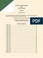 ANH. Actas Capitulares de San Luis. Tomo 1. Años 1700 a 1750