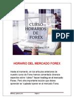 Curso Horarios de Forex