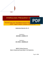 Hydrologic Frequency Analysis