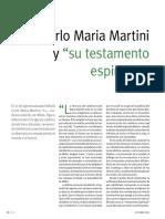 Testamento espiritual Maria Martini
