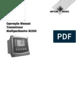 Operação Manual Transmissor Multiparâmetro M200