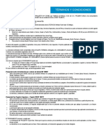 Terminos y Condiciones Paquete 599 TELMEX