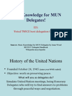 Basic Knowledge for MUN Delegates!