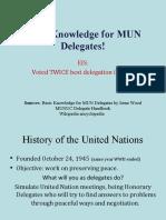Basic Knowledge for MUN Delegates!