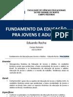 Apresentação - Fundamentos Eja - Facern Campo Redondo