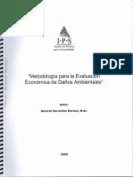 Metodología Para La Evaluación Económica de Daños Ambientales