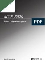 Manual Micro Cadena MCR-B020