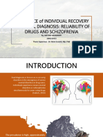 RELIABILITY OF DRUGS AND SCHIZOFRENIA