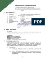 Silabo Investigacion Educativa II