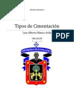 TIPO DE CIMENTACIONES