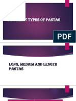 kinds of pastas