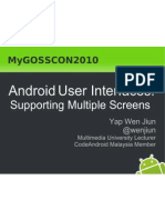 Android Multiple Screen