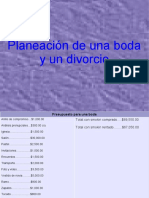 Boda y divorcio