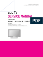 Lg 37lb1da Lcd Tv Service Manual