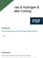 4 Enclosures & Hydrogen & Water Cooling