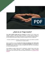 Yoga Mudras de Protección y Sanación