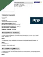 standard 10 artifact 1 principal evaluation