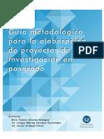 Guia Metodologica Para Laelaboración de Proyectos de Inv