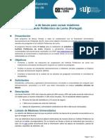 Becas para cursar Másteres en Instituto Politécnico de Leiria, Portugal