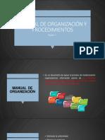 Manual de Organización y Procedimientos