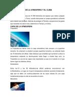 Conformación de La Atmosfera y El Clima