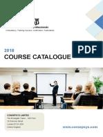 2018 Consepsys Course Catalogue