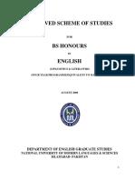 BS English course syllabus