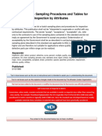 MIL-STD-105 - Sampling Procedures and Tables for Inspection by Attributes