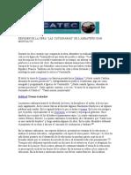 Resumen de La Obra Las Catilinarias de Juan Montalvo