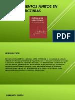 Elementos Finitos en Estructuras Ppt