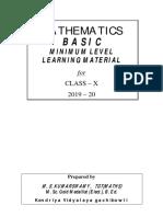 Mll Study Materials Maths Basic Class x 2019 20