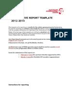 Cso Narrative Report Template 2014