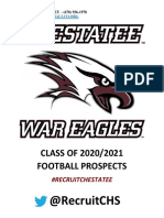 Chestatee High School Football Prospect List 2020-2021
