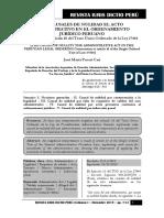 Las Causales de Nulidad Del Acto Administrativo - Autor José María Pacori Cari
