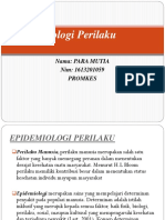 Epidemiologi Perilaku PPT