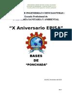 Bases Del Concurso de Ponchada Carrera Profesional de Ingenieria Sanitaria