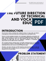 The Future Direction of TVET