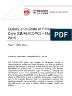 Quality and Costs of Primary Care – Malaysia Phase 1 Report