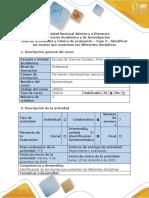 Guía de Actividades y Rúbrica de Evaluación - Fase 2 - Identificar Las Teorías Que Sustentan Las Diferentes Disciplinas